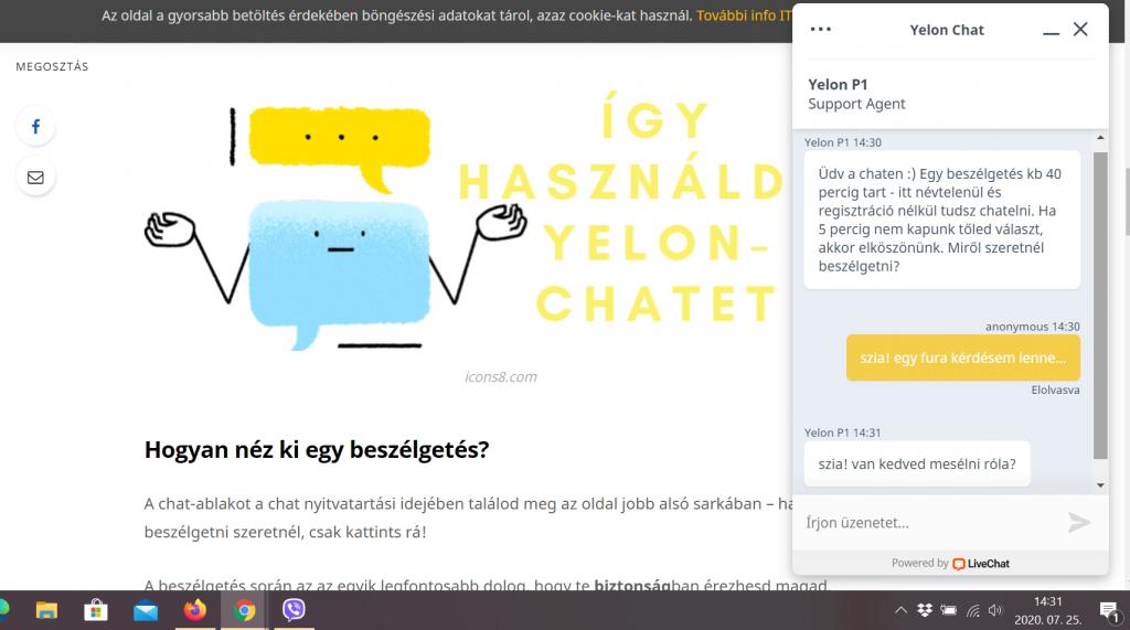 yelon-chat, mit lehet kérdezni